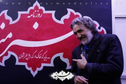 رضا توکلی در غرفه هنرمند