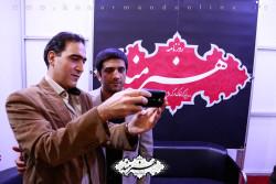 علیرضا دبیر در غرفه روزنامه هنرمند