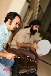محمود نوذری و میلاد عباسی در تمرین گروه مستان قبل از کنسرت درقلب عاشقان