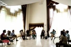 تمرین گروه مستان قبل از کنسرت درقلب عاشقان